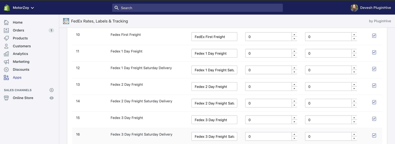 shopify fedex freight