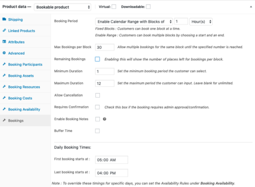 Setting up an Equipment Rental Booking using WooCommerce Bookings