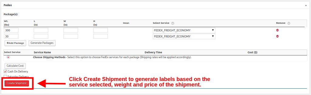 create fedex freight shipment