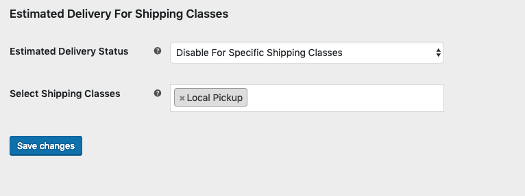Hide estimated delivery dates for a shipping class