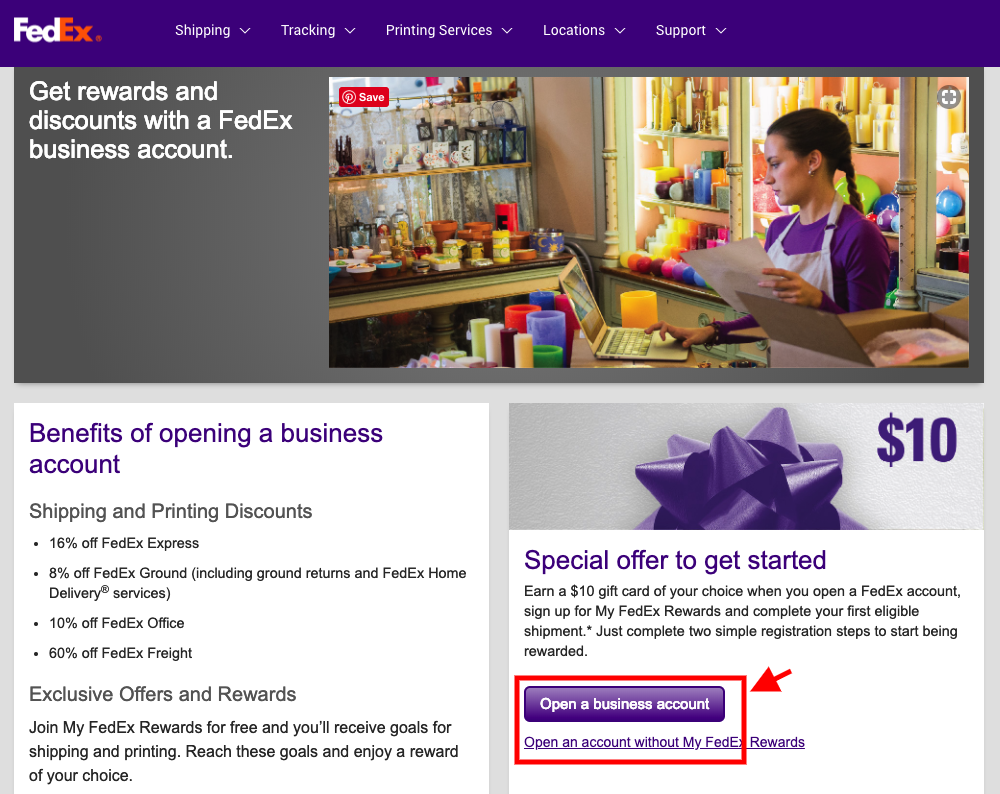 Open FedEx Business Account