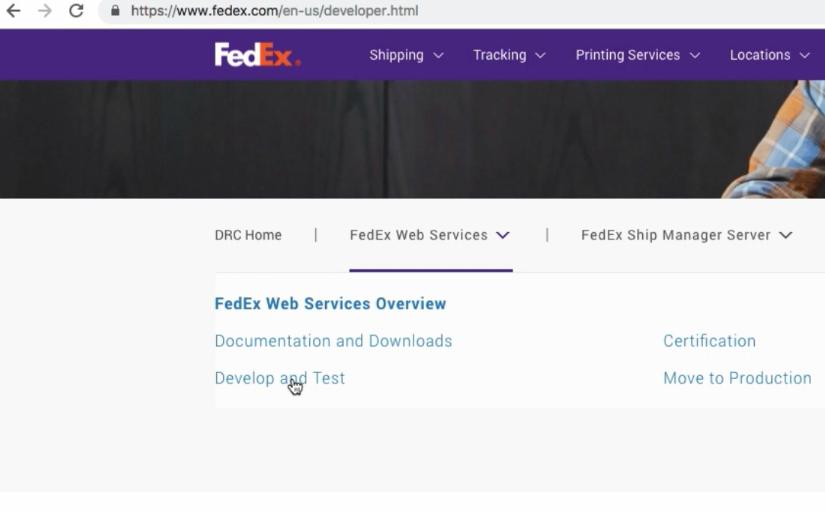 FedEx Developer Section