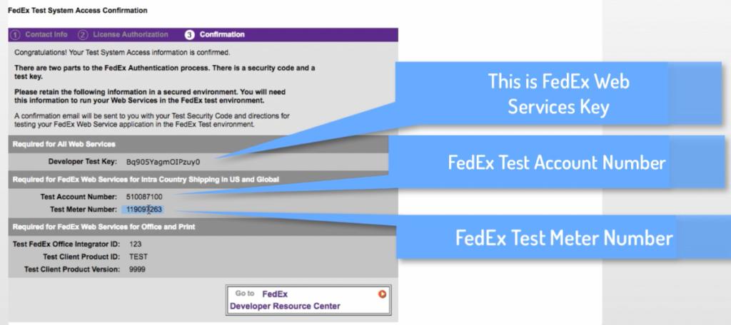 FedEx test keys