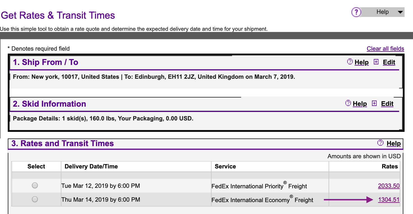 fedex international shipping