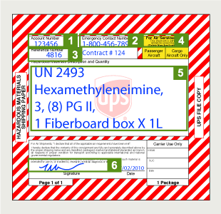 UPS Hazardous Material