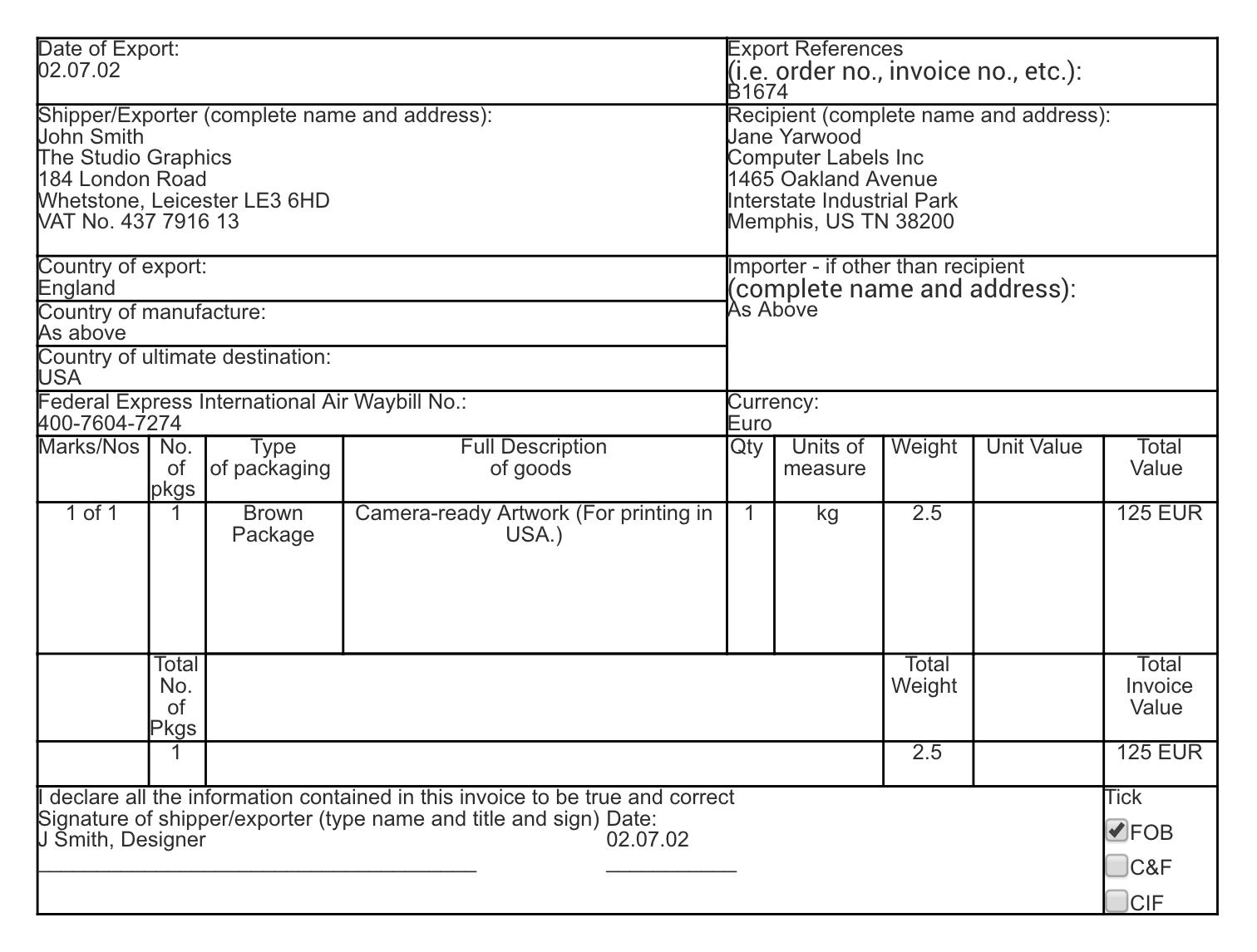 create fedex shipping label