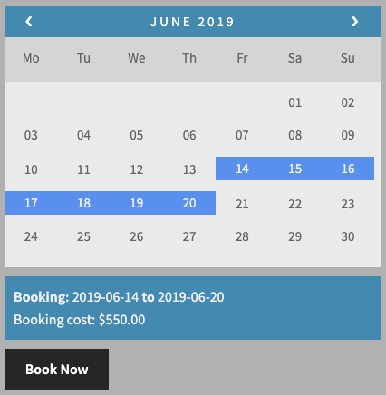 Low Season Booking Charges