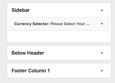 WooCommerce Multi-Currency Widget