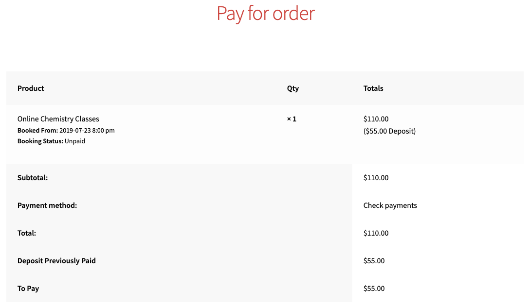 Second Payment