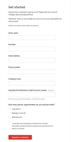 Australia Post Account