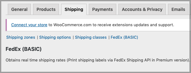 FedEx Shipping Services to your WooCommerce store