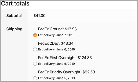 FedEx rates