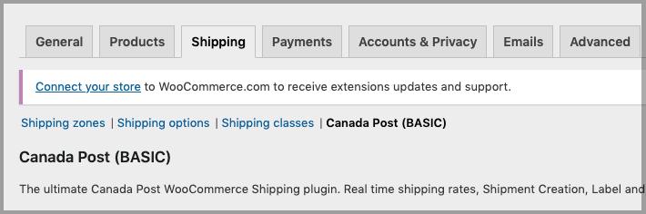 Canada post plugin