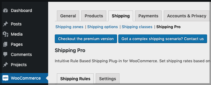WooCommerce Shipping Method