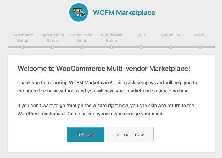 WCFM setup