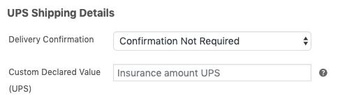 ups insurance value