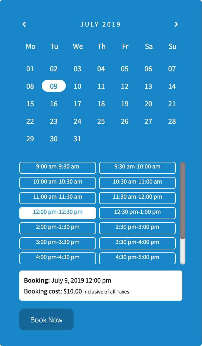 booking calendar 1