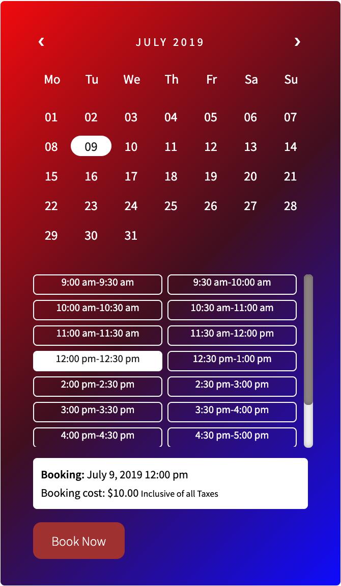 booking calendar 4