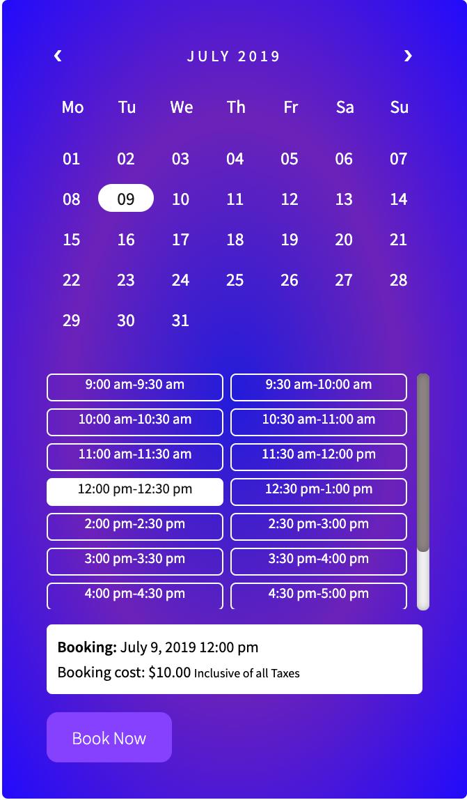 booking calendar 5