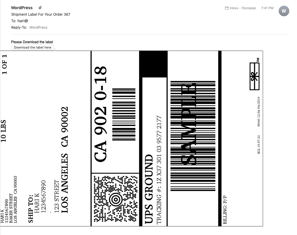 label email