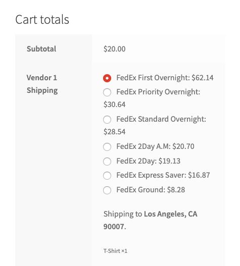 vendor shipping