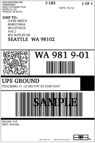 ups-sample-label