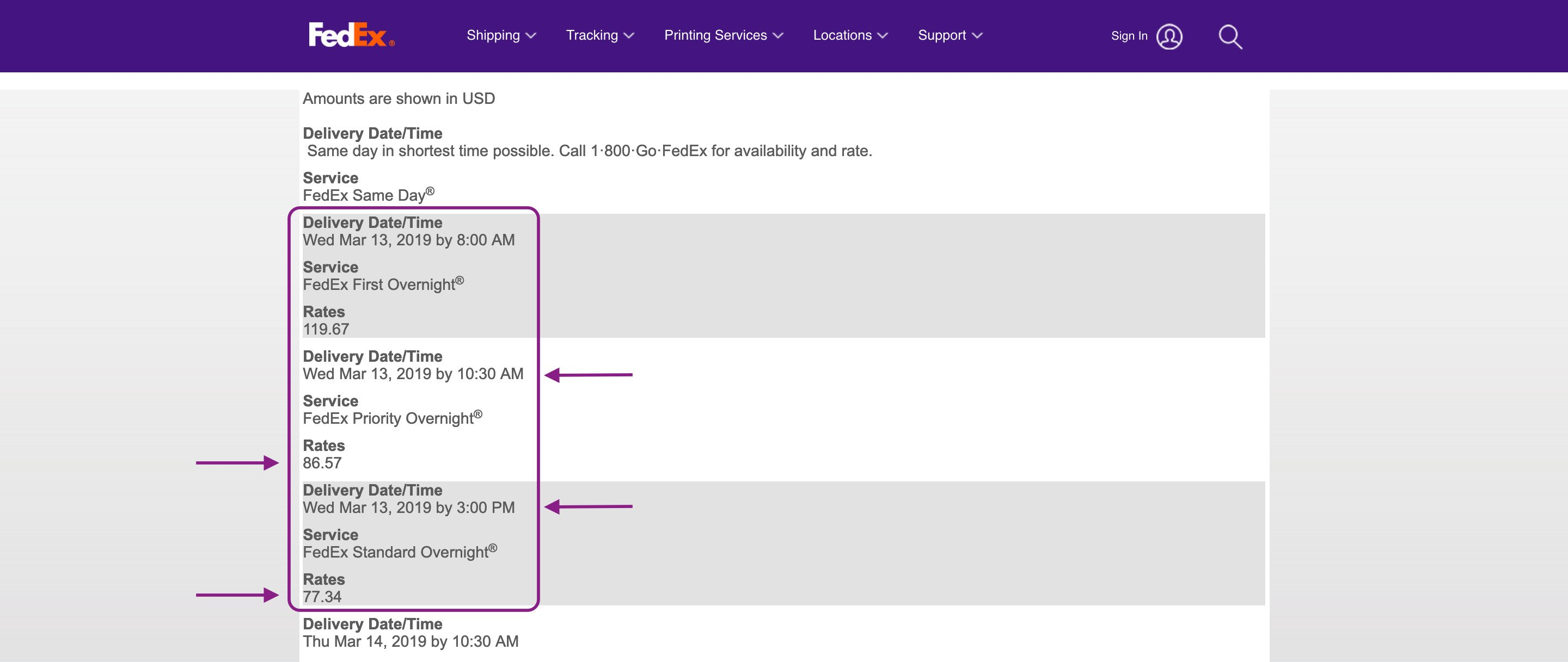 use FedEx standard overnight for the cheapest overnight shipping service