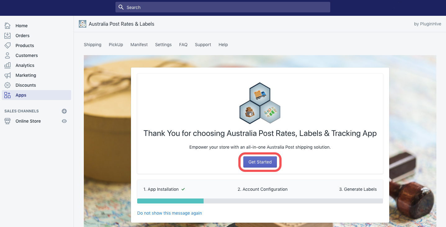 Getting Started with Shopify Australia Post