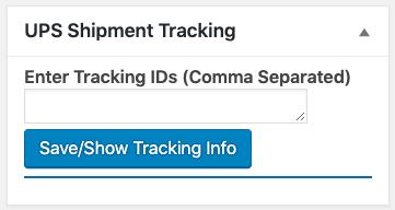 UPS tracking box
