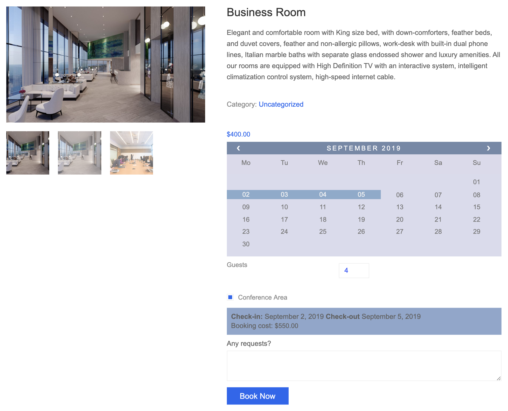 business room availability