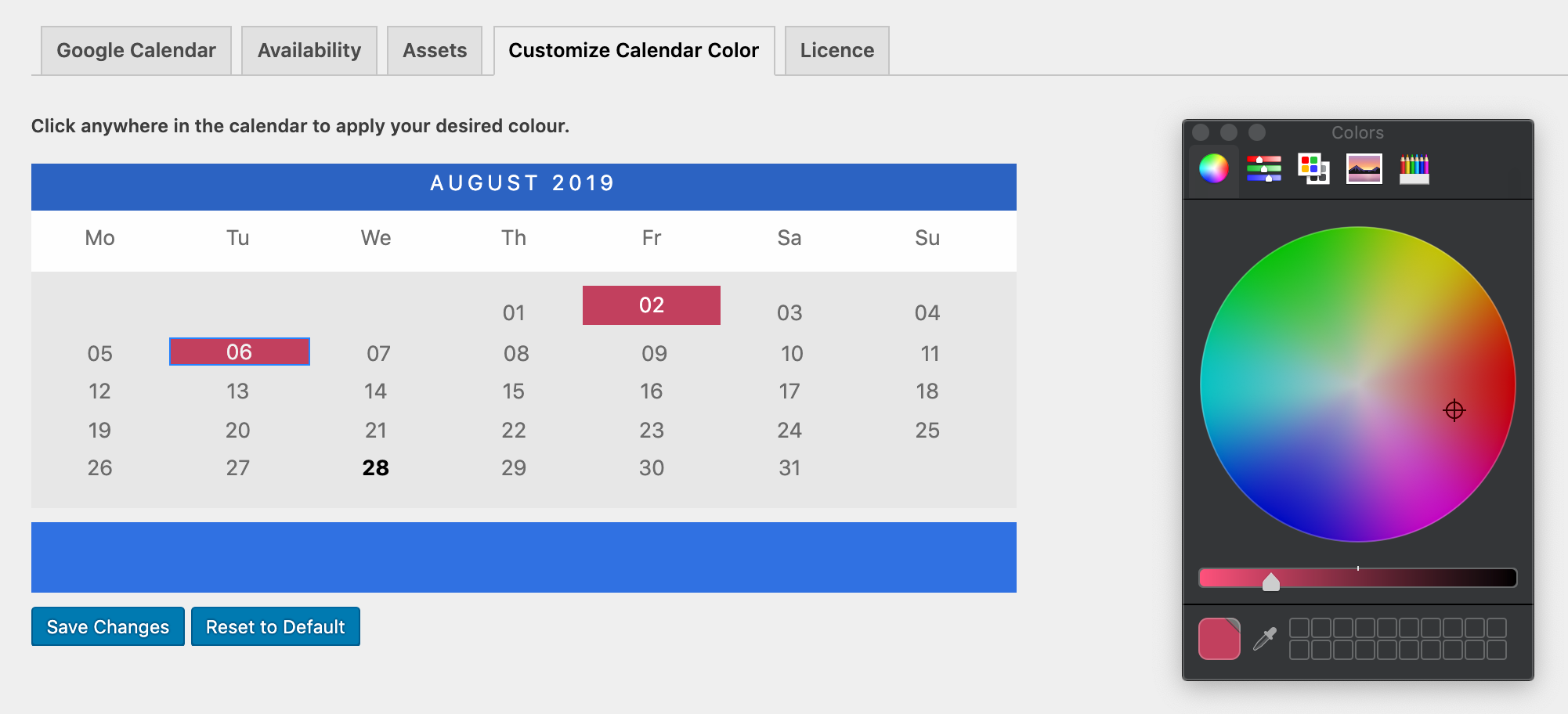 choosing booking calendar design