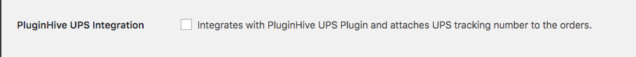Enable PluginHive UPS integration option