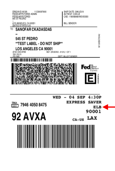 FedEx Label for Battery shipping