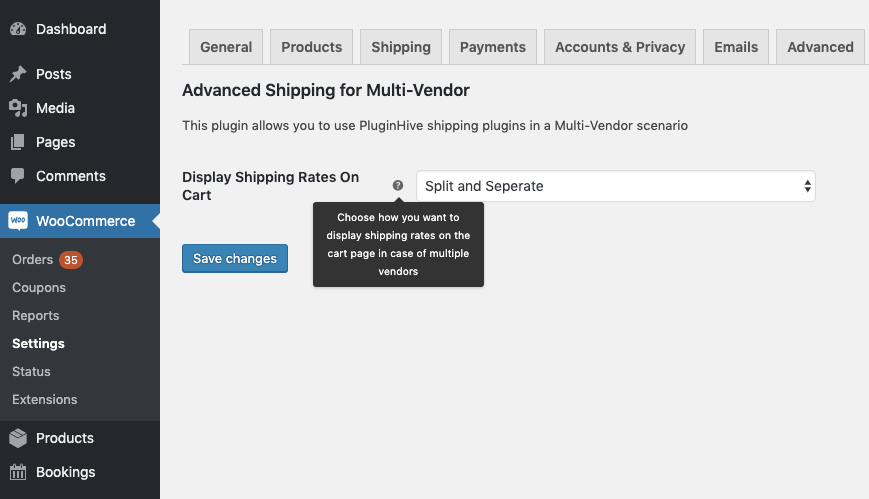 WooCommerce Multi Vendor Shipping rates on cart page