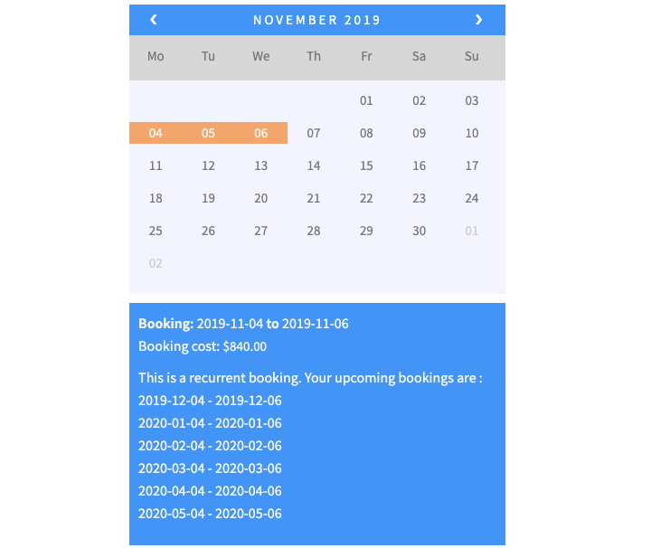 monthly recurring bookings