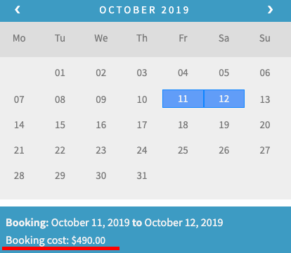 woocommerce bookings calendar without discounts