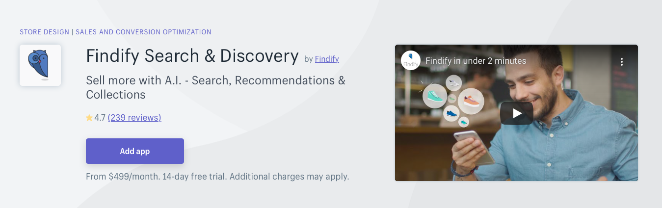 Findify Search Discovery