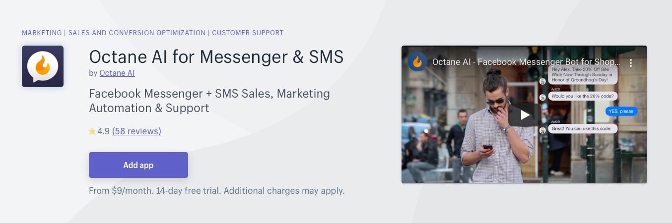 Octane AI for Messenger SMS