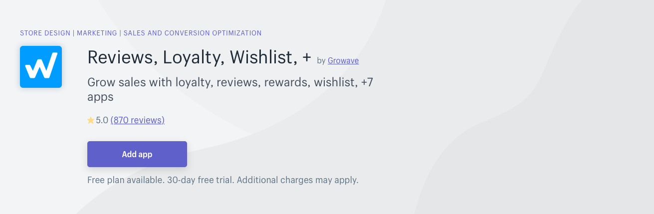 Reviews Loyalty Wishlist
