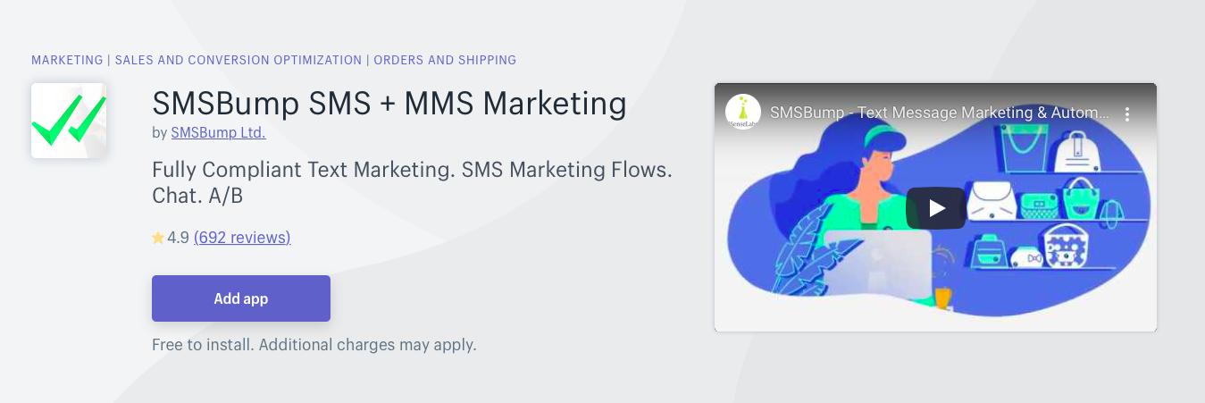 SMSBump SMS MMS Marketing