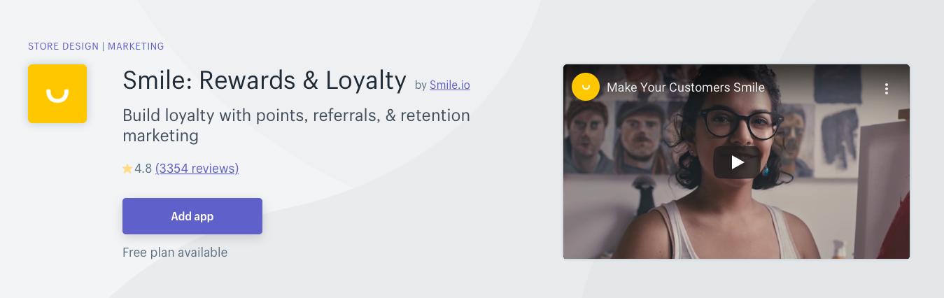 Smile Rewards Loyalty