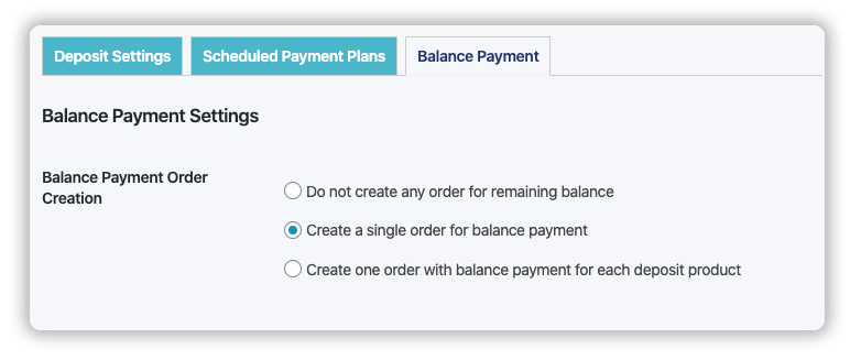 choose whether balance payment orders will be created manually or automatically