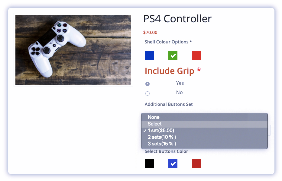 customize-your-products-using-woocommerce-product-addons-plugin-Custom-gaming-controllers