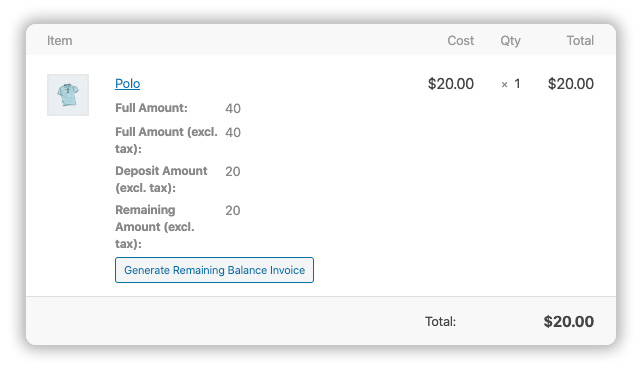 generate balance payment invoice manually