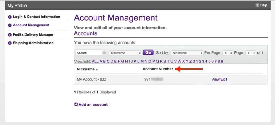 FedEx-Account-number