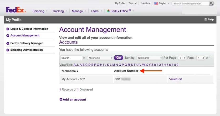 FedEx-Account-number