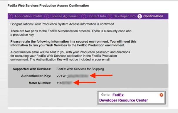 FedEx-Developer-Credentials