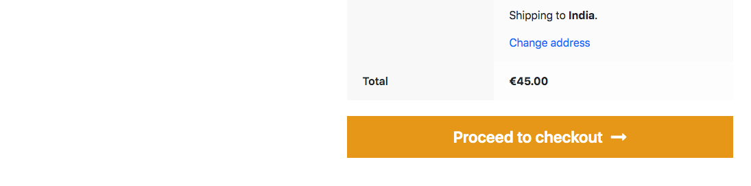 woocommerce catr page with booking cost