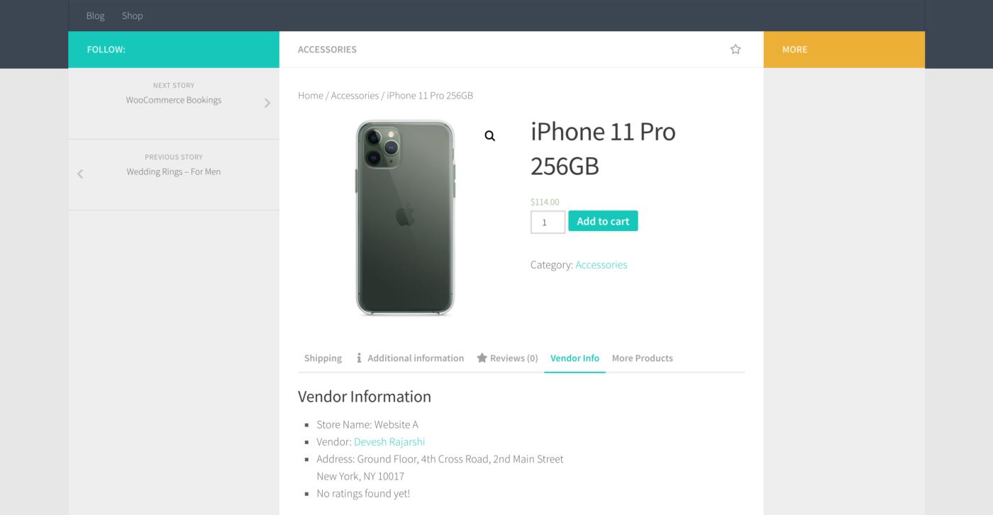 hueman theme product page
