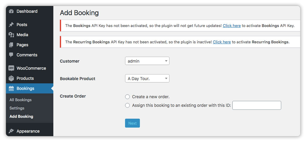 Create-a-Booking-from-the-Backend